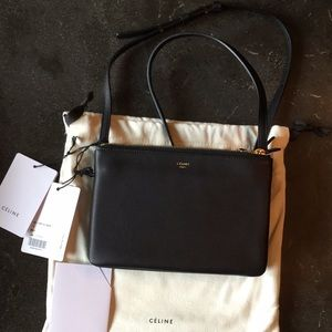 Celine Black Trio Bag Black NWT Small